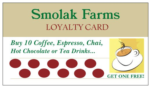 Loyalty Card Coffee Back